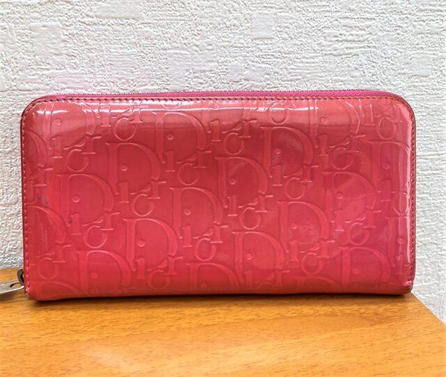 Dior エナメル 長財布 ピンク